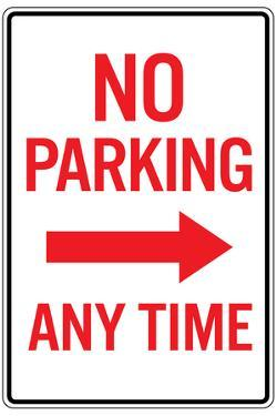 No Parking Any Time RightArrow