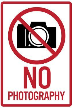 No Photography Sign Poster