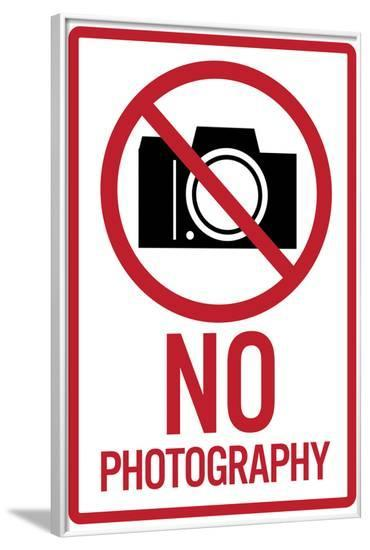 No Photography Sign Poster--Framed Poster