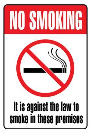 No Smoking Sign Art Print Poster