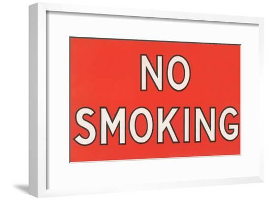 No Smoking Sign--Framed Giclee Print
