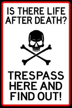No Trespassing Do Not Enter Plastic Sign