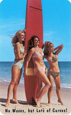 No Waves But Lots of Curves, Three Surfer Girls