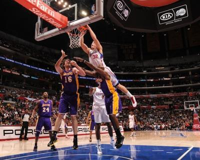 Los Angeles Lakers v Los Angeles Clippers: Blake Griffin, Pau Gasol and Lamar Odom by Noah Graham