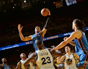 Oklahoma City Thunder v Golden State Warriors - Game One by Noah Graham