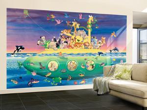 Noah's Sub Large Huge Mural Art Print Poster
