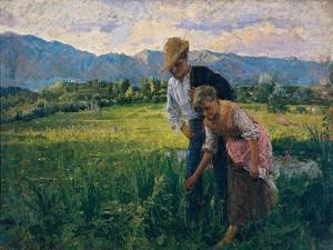 Blowfly (Peasant Girl in the Fields with Young Suitor) by Noe Bordignon