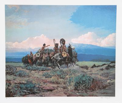 Approach of a Rider by Noel Daggett