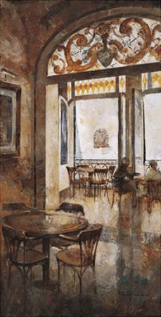 Grand Cafe Cappuccino I by Noemi Martin