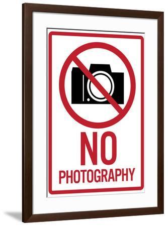 Nography Sign--Framed Art Print