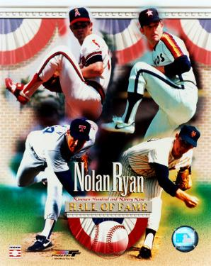 Nolan Ryan - 4 Team Career H.O.F. Composite