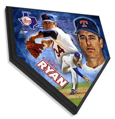 Nolan Ryan Home Plate Plaque