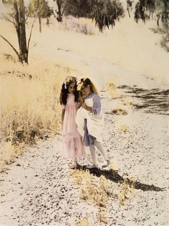 Two Girls on Path