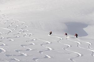 Deep Powder Snow, Skiing, Tyrol, Austria by Norbert Eisele-Hein