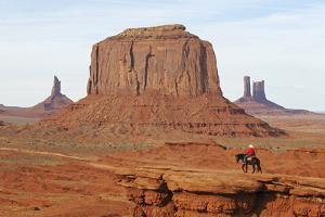 Navajo Indian, Monument Valley, Navajo Tribal Lands, Utah, Usa by Norbert Eisele-Hein