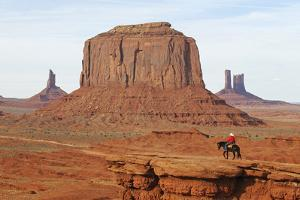 Navajo Indian, Monument Valley, Navajo Tribal Lands, Utah, Usa by Norbert Eisele-Hein