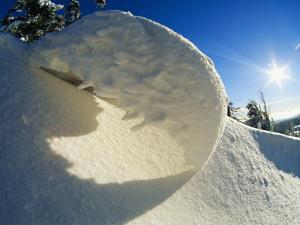 Close View of Snow Bank by Norbert Rosing