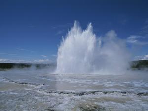 Great Fountain Geyser Seen from Firehole Lake Drive by Norbert Rosing