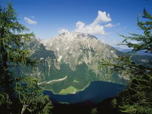 Watzmann Massif and Konigssee Lake, Berchtesgaden National Park by Norbert Rosing