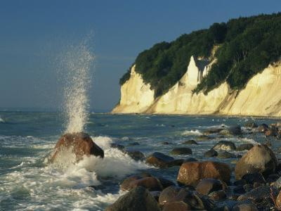 White Chalk Cliffs of the Island of Rugen at Jasmund National Park by Norbert Rosing