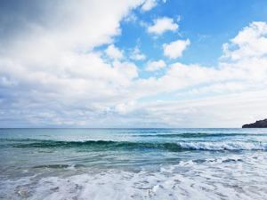 Cloudy Sky over Sea with Some Waves by Norbert Schaefer