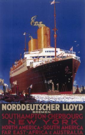 Norddeutscher Lloyd Shipping Poster