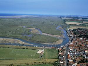 Norfolk Aerial of Wells-Next-The-Sea