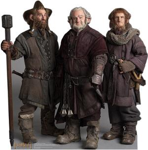 Nori, Dori, Ori The Dwarfs - The Hobbit Movie Cardboard Stand Up