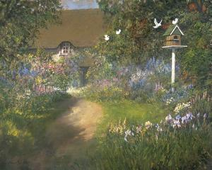Doves with Irises by Norman Coker