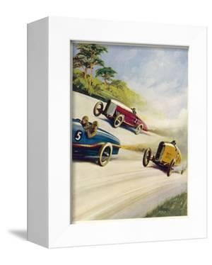 Racing Cars of 1926: Oddly One Car is Carrying Two People the Others Only One by Norman Reeve