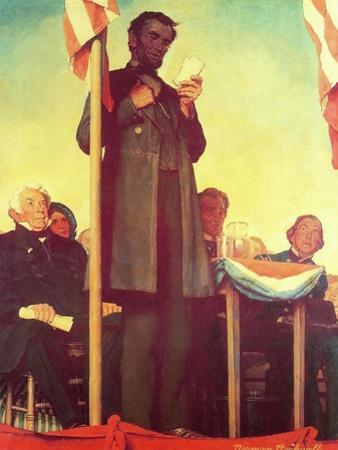 Abraham Lincoln Delivering the Gettysburg Address by Norman Rockwell