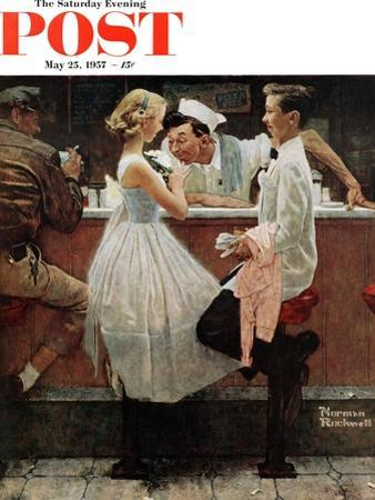 """After the Prom"" Saturday Evening Post Cover, May 25,1957 by Norman Rockwell"