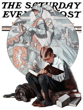 """""""Age of Romance"""" Saturday Evening Post Cover, November 10,1923 by Norman Rockwell"""