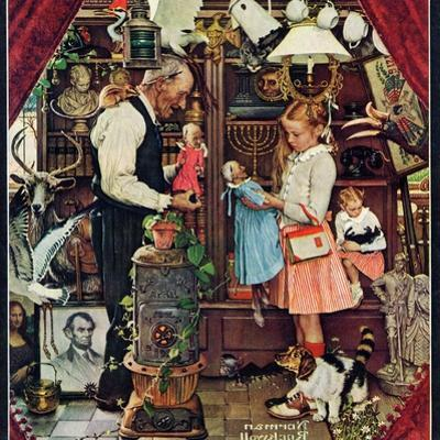 """April Fool, 1948"", April 3,1948 by Norman Rockwell"
