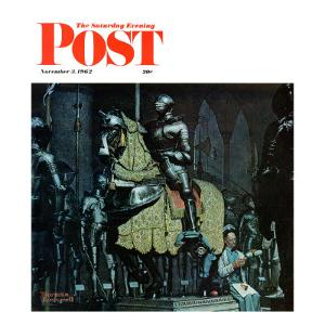 """""""Armor"""" Saturday Evening Post Cover, November 3,1962 by Norman Rockwell"""