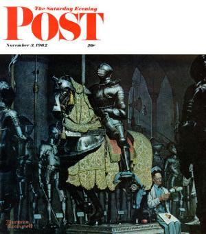 """Armor"" Saturday Evening Post Cover, November 3,1962 by Norman Rockwell"