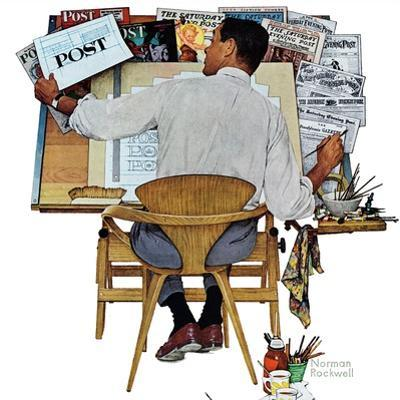 """Artist at Work"", September 16,1961 by Norman Rockwell"