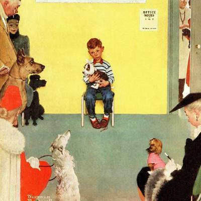 """""""At the Vets"""", March 29,1952 by Norman Rockwell"""