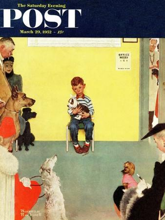 """At the Vets"" Saturday Evening Post Cover, March 29,1952"