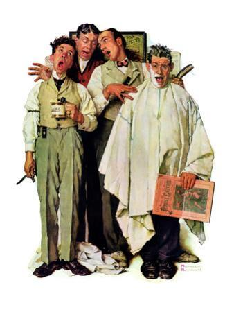 """Barbershop Quartet"", September 26,1936 by Norman Rockwell"