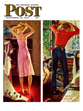"""""""Before the Date"""" Saturday Evening Post Cover, September 24,1949 by Norman Rockwell"""
