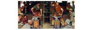 Blacksmith's Boy-Heel and Toe by Norman Rockwell