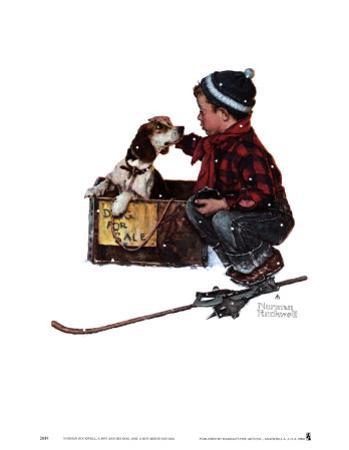 Boy Meets His Dog