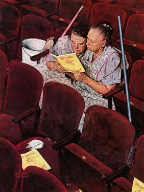 """""""Charwomen"""", April 6,1946 by Norman Rockwell"""