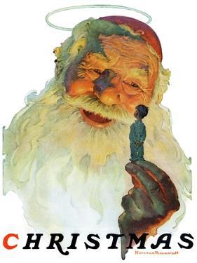 """Christmas, 1927"" (King Kong Santa), December 3,1927 by Norman Rockwell"