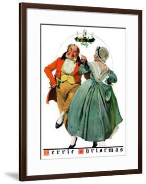 """""""Christmas Dance"""" or """"Merrie Christmas"""", December 8,1928 by Norman Rockwell"""