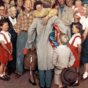 """""""Christmas Homecoming"""", December 25,1948 by Norman Rockwell"""