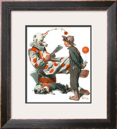 """Circus"" or ""Meeting the Clown"", May 18,1918 by Norman Rockwell"