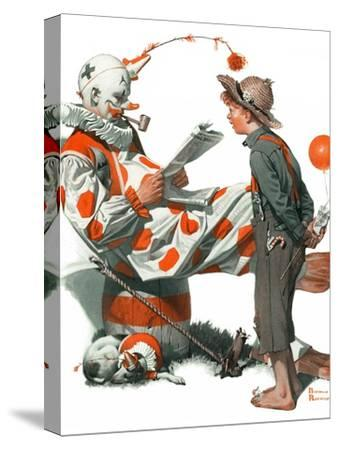 """""""Circus"""" or """"Meeting the Clown"""", May 18,1918 by Norman Rockwell"""