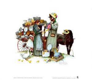 Country Pedlar by Norman Rockwell